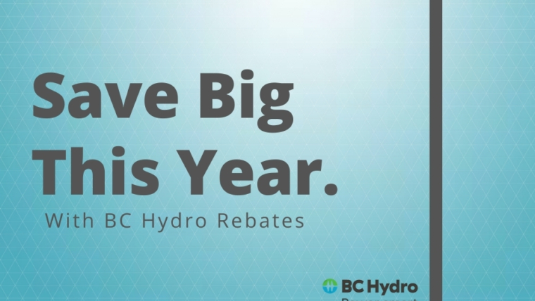 BC Hydro 2020 Rebates and Deals